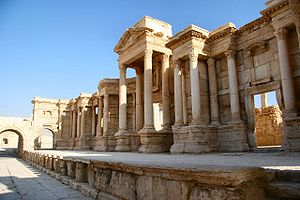 Roman Syria - The ancient city of Palmyra was an important trading center and possibly Roman Syria's most prospering city