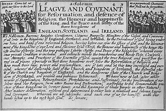 Scotland in the Wars of the Three Kingdoms - The Solemn League And Covenant, as publicised in England
