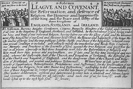 The Solemn League And Covenant, as publicised in England The Solemn League And Covenant.jpg
