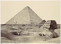 The Sphynx and Great Pyramid, Geezeh MET DP116345.jpg