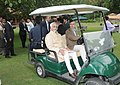 The Vice President, Shri Mohd. Hamid Ansari with the Chief Minister of Jammu and Kashmir, Shri Omar Abdullah, during his visit to Dachigam National Park, in Srinagar on September 16, 2012.jpg