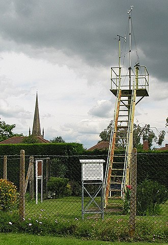 Ross-on-Wye weather station - The weather station