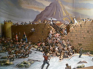 Royal Scots - The capture of San Sebastián, diorama in the Royal Scots Regimental Museum