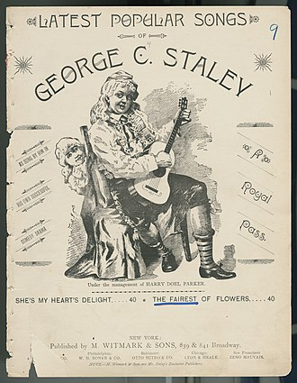 M. Witmark & Sons - A Piece of Music Published by Witmark and Sons in 1890.