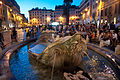 The fountain, Piazza di Spagna, Rome, Sept. 2011 - Flickr - PhillipC.jpg