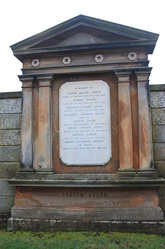 Andrew Usher - The grave of Andrew Usher, Grange Cemetery, Edinburgh