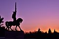 The memorial of Han Asparuh at sunset, Dobrich (16677182084).jpg