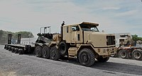 The newly activated 721st Transportation Company (Heavy Equipment Transporter).jpg