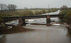 The railway bridge at Over - geograph-4425245-by-John-Winder.jpg