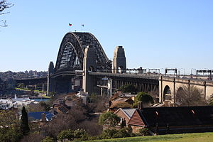 Dawes Point, New South Wales - Sydney Harbour Bridge, viewed from Observatory Hill