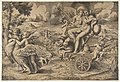 The triumph of Cupid and Psyche who are seated on a chariot drawn by two birds restrained by children MET DP812448.jpg
