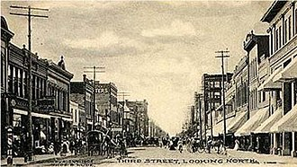 History of Grand Forks, North Dakota - Third Street looking north