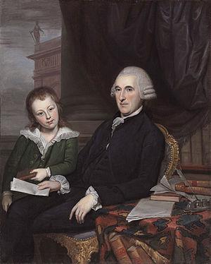 Thomas McKean - Governor Thomas McKean and his son, Thomas McKean, Jr. (Charles Willson Peale, 1787)