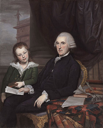 Thomas McKean - Governor Thomas McKean and his son, Thomas McKean, Jr. (Charles Willson Peale, 1787)