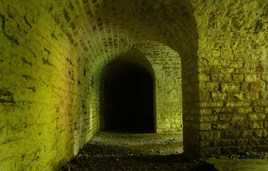 Coffre de contrescarpe Sud-Ouest.  Basses perches fortifications.