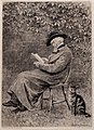 Thomas Carlyle in his garden - Charles Oliver Murray - after Helen Allingham - 1875 - Caryle-98559.jpg