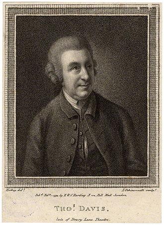 Thomas Davies (bookseller) - Thomas Davies, 1794 engraving by Luigi Schiavonetti, after Thomas Hickey