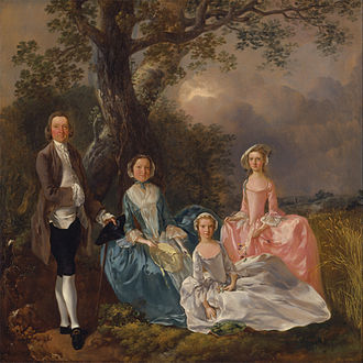 "Henry Gladwin - ""The Gravenor Family"", by Thomas Gainsborough, c.1754. One of the daughters is Anne Gravenor, sister-in-law of Henry Gladwin"