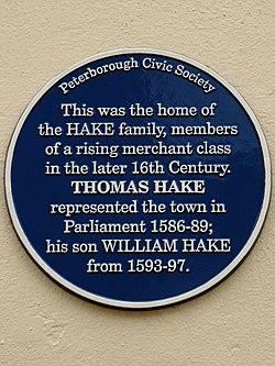 Thomas hake (peterborough)
