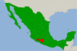 Tierra Caliente (Mexico) - Map showing the Tierra Caliente region in on the map of Mexico