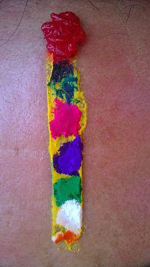 Bhai Dooj - Tilak of 7 colors is applied on the forehead