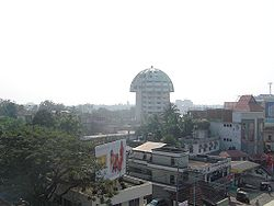 A Skyview of Thiruvalla.The Biggest Town and Commercial Centre of Pathanamthitta District