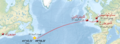 Titanic voyage map arabic.png