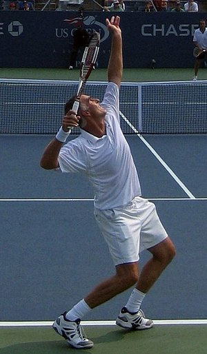 Todd Martin - Martin serving at the 2006 U.S. Open.