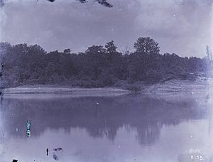 Eliza Battle - 1888 photograph of the Tombigbee River below Moscow Landing, near the site of the disaster.