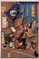 Tomoe Gozen, Wife of Kiso Yoshinaka, Defeating Uchida Saburo LACMA M.84.31.209.jpg