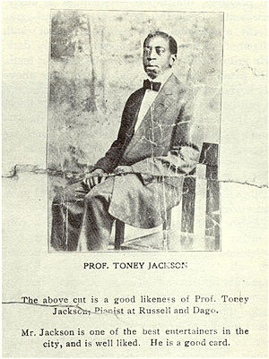 Storyville, New Orleans - Advertising flyer for the jazz pianist Tony Jackson, ca. 1910