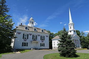 Royalston, Massachusetts - Town Hall and First Congregational Church