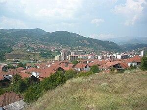 Makedonska Kamenica - Panorama view of the city.