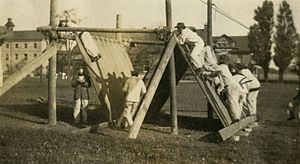 Obstacle course - Obstacle-course training at the Royal Military College of Canada circa 1917