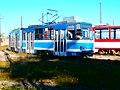 Tram 100 at Kopli Tram Depot in Tallinn 18 September 2016.jpg