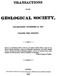 Transactions of the Geological Society, 1st series, vol. 4.djvu