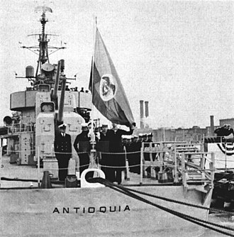USS Hale (DD-642) - Transfer of Hale to Colombia as ARC Antioquia (DD-01), 1961.