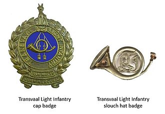 Witwatersrand Rifles Regiment - Transvaal Light Infantry insignia