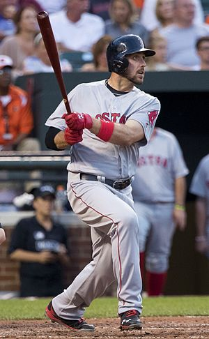Travis Shaw - Shaw batting for the Boston Red Sox in 2016