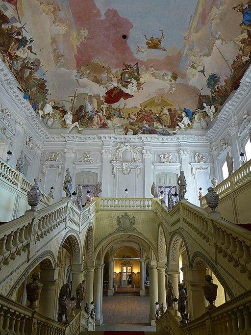 Treppenhaus der Residenz Würzburg; Weltkulturerbe in Bayern (2)