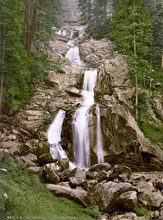Triberg im Schwarzwald - Image: Triberger wasserfall 1900
