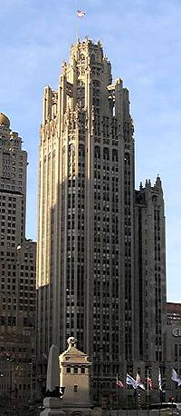 The Gothic Revival Tribune Tower in Chicago