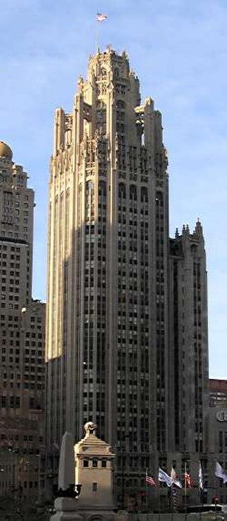 John Mead Howells - Tribune Tower, one of Howells' more notable works
