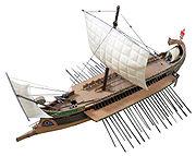 Model of a Roman bireme