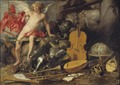 Triumphant Cupid among Emblems of Art and War (Thomas Willeboirts Bosschaert & Paul de Vos) - Nationalmuseum - 17413.tif