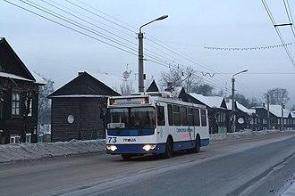 Leninsk-Kuznetsky (city) - Image: Trolza trolleybus in Leninsk Kuznetsky
