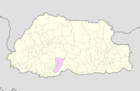 Tsirang Bhutan location map.png