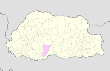 Location of Gosarling Gewog