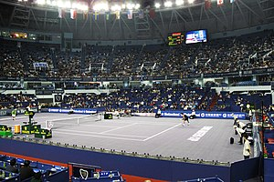 Qizhong Forest Sports City Arena - The Qizhong Arena main court, during the 2008 Tennis Masters Cup