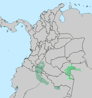Tucano people - Distribution of the Tucan, who fall into groups of East, Central, and West Tucano language-speakers